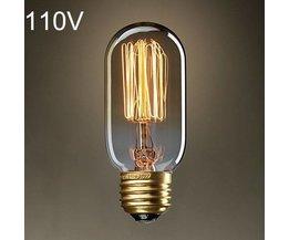 Retro Edison Light Bulb E27 40W AC 110V T45
