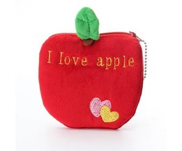 Cute Purse Soft Plush And Flannel In The Form Of Fruit