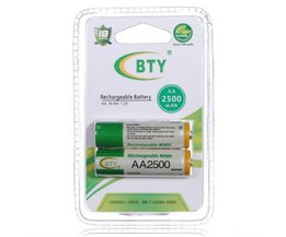 BTY Rechargeable Batteries AA (2 Pieces)