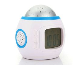 Digital Alarm Clock With Starry Sky Projection And LED Night Light