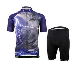Man Cycling Wear Shirts And Pants