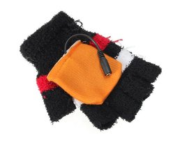 USB Heating Gloves Without Fingertips.