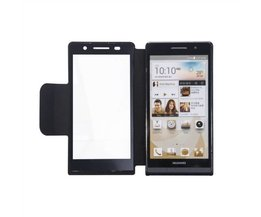 Flip Cover Case For Huawei Ascend P6