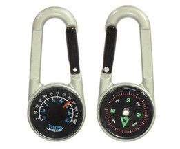 Mini Compass And Thermometer Keychain