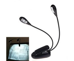 LED Clip Light With Two Arms For Music Stand