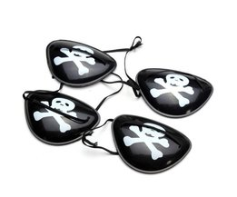 4 Pieces Pirates Eye Patches