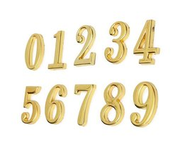 Gold House Number Plate