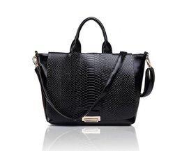 Workbag For Women With Black Snakes Motif