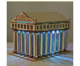 Temple Of Zeus DIY 3D Puzzle Wood