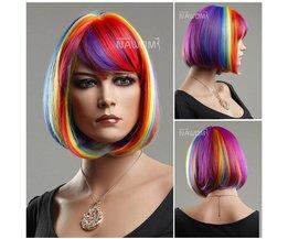 NAWOMI Rainbow Kanekalon Hair Wig