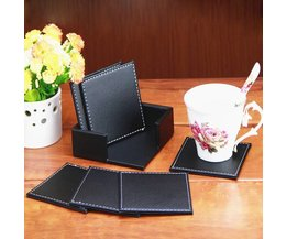 Leather Coasters 6 Pieces