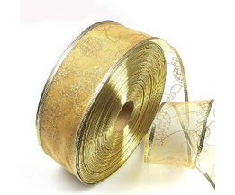 Christmas Ribbon Gold 2M