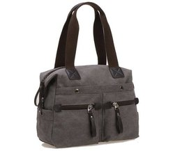 Unisex Handbag With Many Pockets
