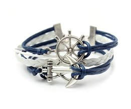 Bracelet With Anchor And Steering Wheel