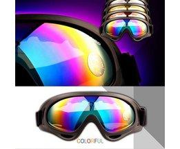 Goggles With Multi-Colored Glasses