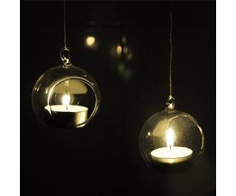 Hanging Candle Holder Glass