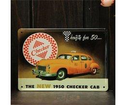 Retro Taxi Plate Metal