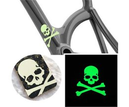 Skull Glow In The Dark Sticker For Motorcycle, Car And Bike