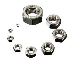 Steel Hex Nuts 10 Pieces