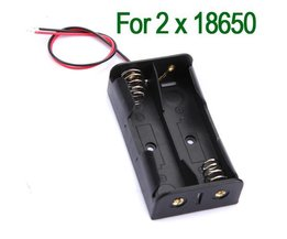 Plastic Battery Holder For 2X 18650 Batteries