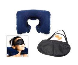 Neck Pillow Eye Mask Travel Kit Earphones