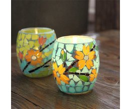 Candle Holder With Mosaic