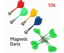 Magnetic Dart Arrows For Two-Sided Magnetic Dartboard 10 Pieces