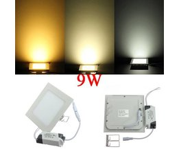 9W LED Light Panel With Driver In Different Colors