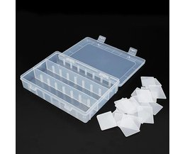 Plastic Storage Box With 24 Compartments