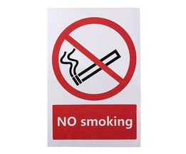 No Smoking Sticker 100X150 Mm