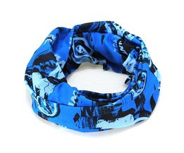 Blue Bicycle Headscarf
