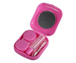 Pink Lenses Box With Accessories