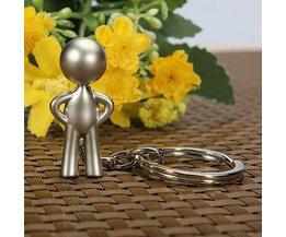 Classic Silver Keychain Mr. P Boy