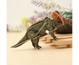 Windup 3D Puzzle Triceratops Dino