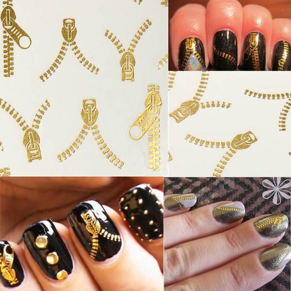 Nail Art Stickers Zipper - Buy online - Cheapest | MyXL Gadget Shop UK