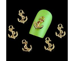Anchor Decoration For Nails 10 Pieces