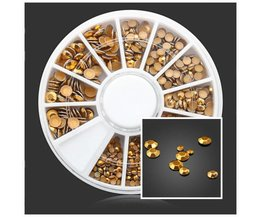 Golden Stones For Nail Art