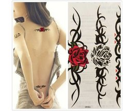 Roses Temporary Tattoo