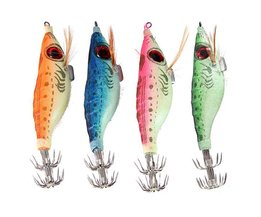 Fluorescent Squid Bait With Hook