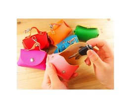Colored Mini Wallet With Zipper Box