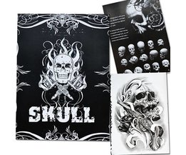 Skulls Tattoo Book With 76 Pages