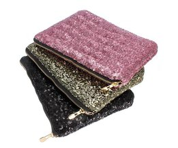 Clutch With Sequins