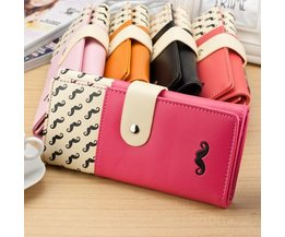 Mustache Wallet With Press Button