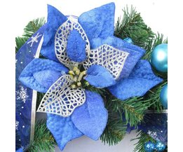 Blue Christmas Flower