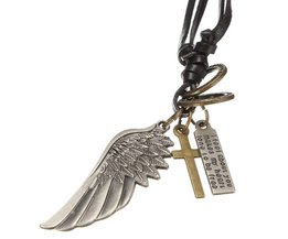 Key With Cross And Angel Wing
