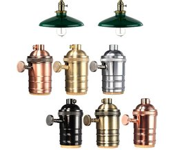 E27 Vintage Lamp Holder In Various Colors