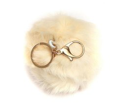 Keychain With Fluffy Ball