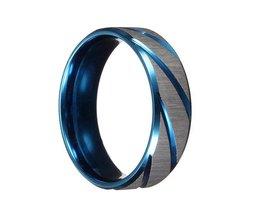 Blue Silver Ring For Men