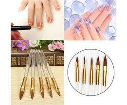 Transparent Nail Art Brushes 5 Pcs