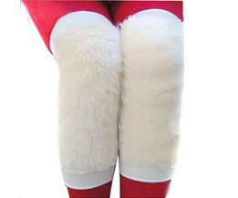 Thermo Kniewarmers Of Wool Imitation